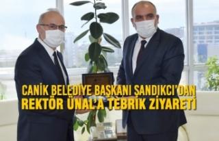Canik Belediye Başkanı Sandıkcı'dan Rektör...