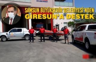 Samsun Büyükşehir Belediyesi'nden Giresun'a...