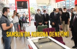Samsun'da Korona Denetimi
