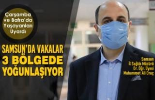 Samsun'da Vakalar 3 Bölgede Yoğunlaşıyor