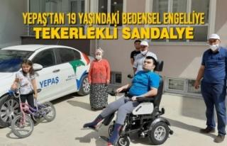 YEPAŞ'tan 19 Yaşındaki Bedensel Engelliye Tekerlekli...