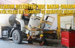 Atakum Belediyesi'nde Bakım-Onarım Atölyeleri...