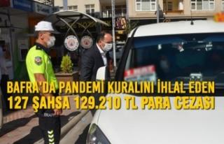 Bafra'da Pandemi Kuralını İhlal Eden 127 Şahsa...