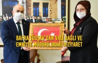 Bafra TÜGŞAV'dan Vali Dağlı ve Emniyet Müdürü...