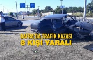 Bafra'da Trafik Kazası; 8 Kişi Yaralı