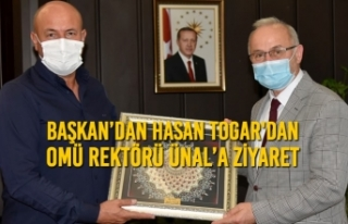 Başkan'dan Togar'dan OMÜ Rektörü Ünal'a...