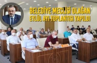 Belediye Meclisi Olağan Eylül Ayı Toplantısı...