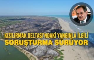 Kızılırmak Deltası'ndaki Yangınla İlgili Soruşturma...