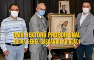 Rektör Ünal TÜGVA Genel Başkanını Ağırladı