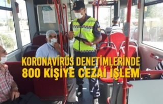 Samsun'da Koronavirüs Denetimlerinde 800 Kişiye...