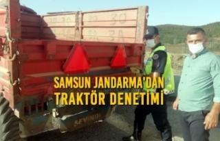 Samsun Jandarma Traktör Denetimi Gerçekleştirdi