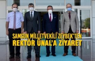 Samsun Milletvekili Zeybek'ten Rektör Ünal'a...