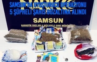 Samsun'da Uyuşturucu Operasyonu 5 Şahıs Gözaltına...