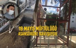 19 Mayıs Müftülüğü Asansörüne Kavuşuyor