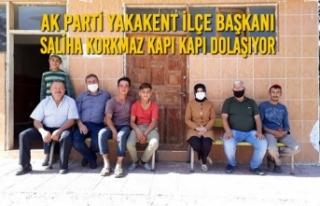 Ak Parti Yakakent İlçe Başkanı Saliha Korkmaz...