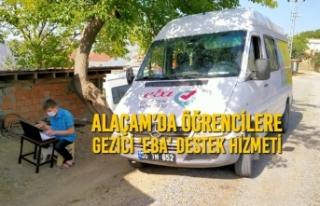 Alaçam'da Öğrencilere Gezici 'Eba'...