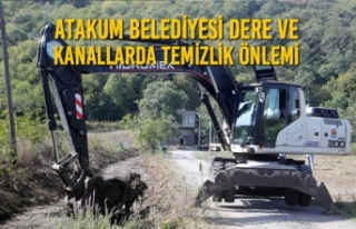 Atakum Belediyesi Dere ve Kanallarda Temizlik Önlemi