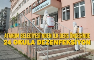 Atakum Belediyesi'nden İlk Ders Öncesinde 24 Okula...