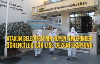 Atakum Belediyesi'nin Hijyen Timlerinden Öğrenciler...