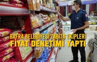 Bafra Belediyesi Zabıta Ekipleri Fiyat Denetimi Yaptı