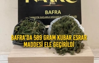 Bafra'da 589 Gram Kubar Esrar Maddesi Ele Geçirildi