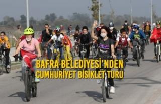 Bafra'da Cumhuriyet Bisiklet Turu