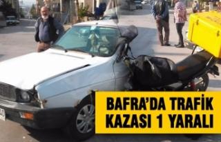 Bafra'da Trafik Kazası : 1 Yaralı