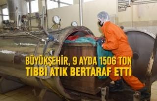 Büyükşehir, 9 Ayda 1506 Ton Tıbbi Atık Bertaraf...