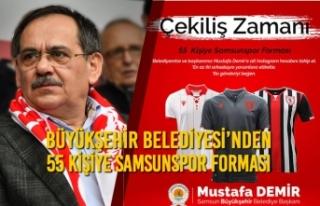 Büyükşehir Belediyesi'nden 55 Kişiye Samsunspor...