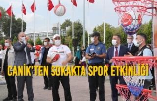 Canik'ten Sokakta Spor Etkinliği