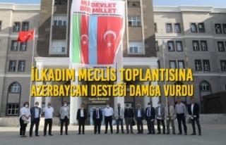 İlkadım Meclis Toplantısına Azerbaycan Desteği...