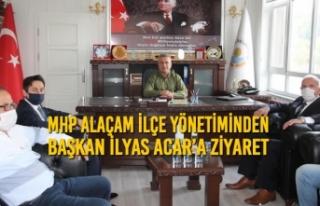 MHP Alaçam İlçe Yönetiminden Başkan Acar'a...