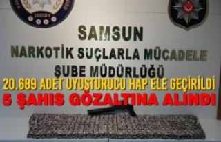Samsun'da 20.689 Adet Uyuşturucu Hap Ele Geçirildi,...