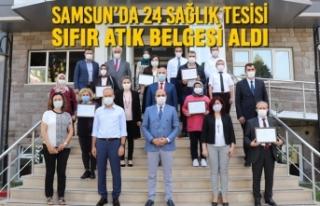 Samsun'da 24 Sağlık Tesisi Sıfır Atık Belgesi...