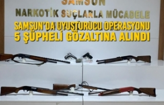 Samsun'da Operasyonu; 5 Şüpheli Gözaltına Alındı