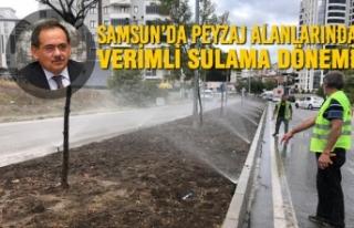 Samsun'da Peyzaj Alanlarında Verimli Sulama Dönemi