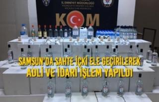 Samsun'da Sahte İçki Ele Geçirilerek Adli ve...