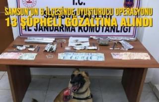 Samsun'un 6 İlçesinde Uyuşturucu Operasyonu 13...