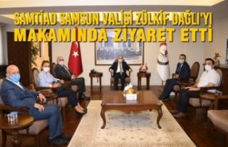 SAMTİAD Samsun Valisi Zülkif Dağlı'yı Makamında...