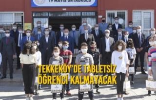 Tekkeköy'de Tabletsiz Öğrenci Kalmayacak