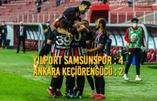 Yılport Samsunspor : 4 – Ankara Keçiörengücü...
