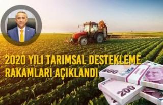 2020 Yılı Tarımsal Destekleme Rakamları Açıklandı