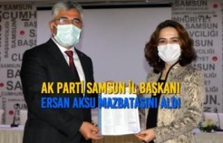 AK Parti Samsun İl Başkanı Ersan Aksu Mazbatasını...