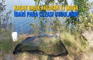 Bafra'da Kaçak Balık Avlayan 11 Şahsa İdari...