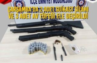 Çarşamba'da 2 Adet Suikast Silahı ve 3 Adet Av...