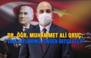 """Dr. Öğr. Muhammet Ali Oruç: """"Vaka Sayılarımız..."""