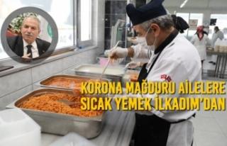 Korona Mağduru Ailelere Sıcak Yemek İlkadım'dan