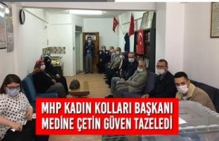 MHP'de Başkan Medine Çetin Güven Tazeledi