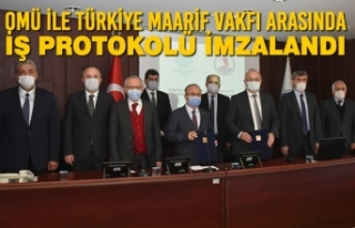 OMÜ ile Türkiye Maarif Vakfı Arasında İş Protokolü...