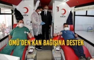 OMÜ'den Kan Bağışına Destek